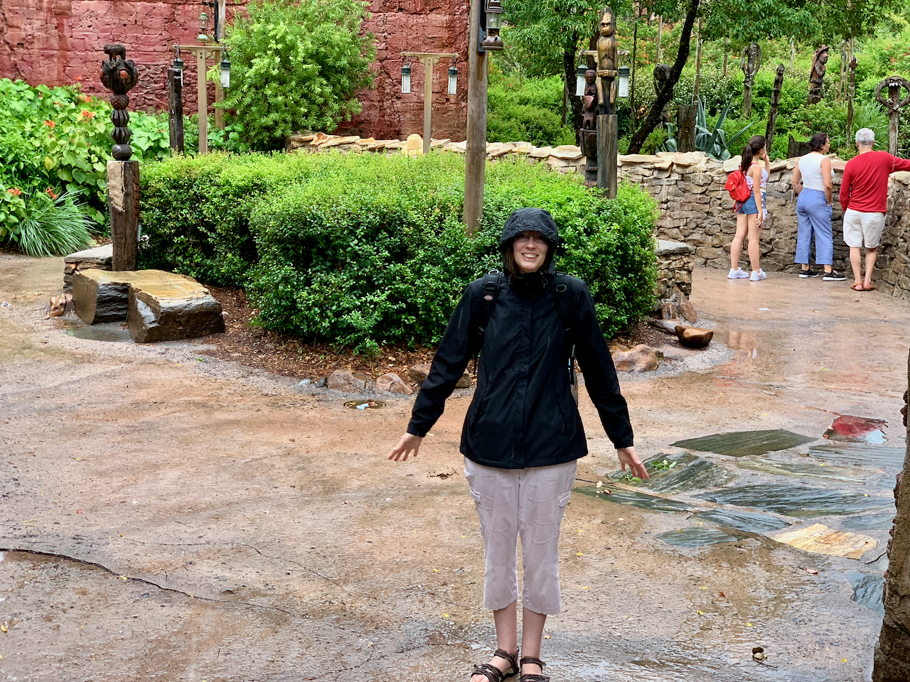 Lisa in the rain