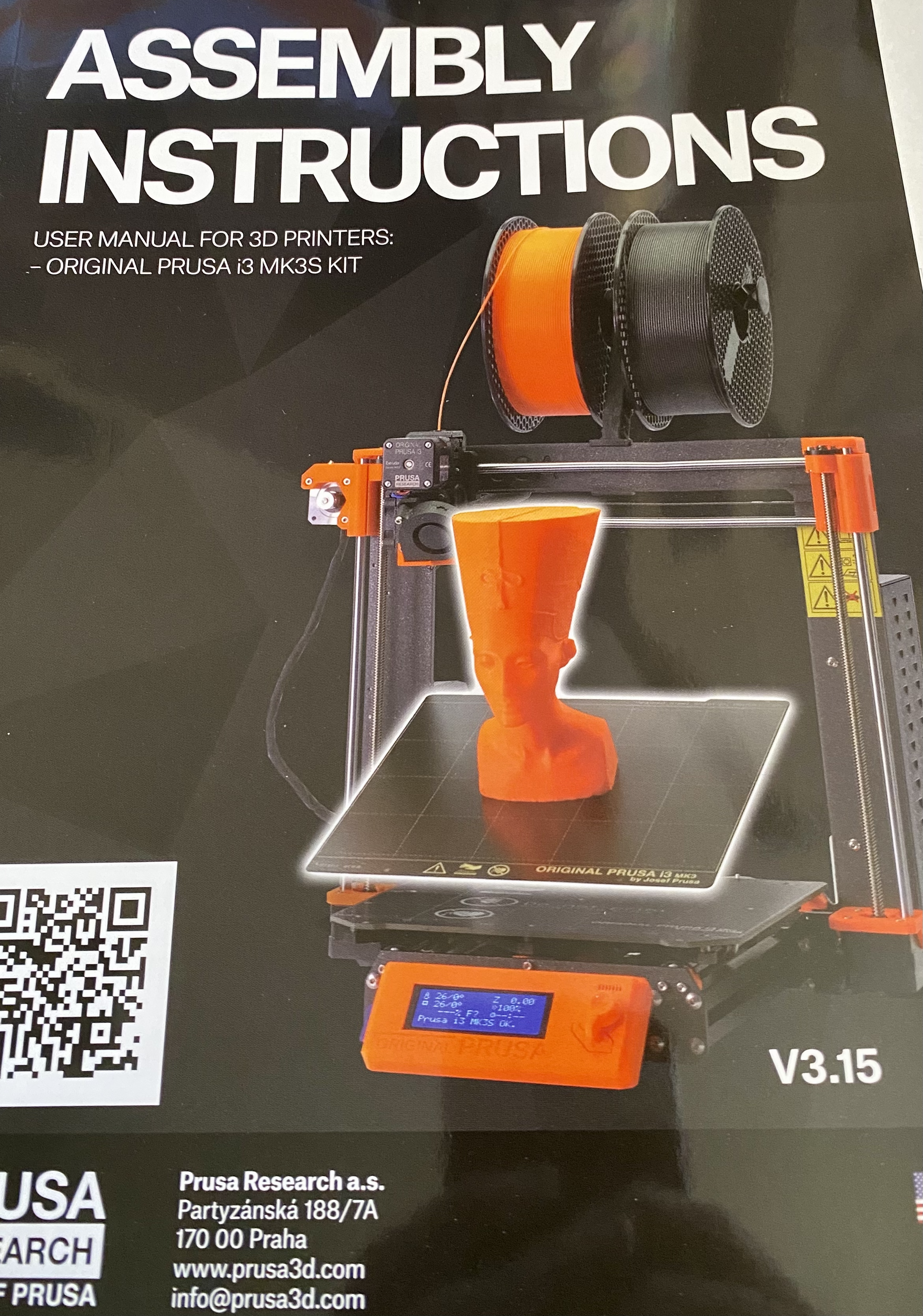 Prusa instruction book.
